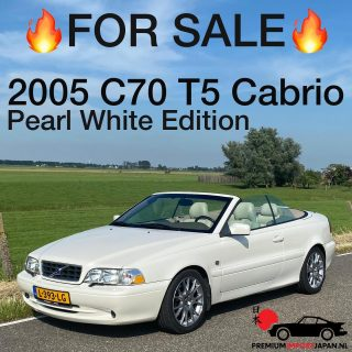 2005 Volvo C70 Classic T5 Convertible KM: 103.877 Transmission: Automatic 5-speed Engine: 2319cc 5-cylinder 245hp  Perfect condition.  More info via PM or in the weblink. #c70 #volvoc70 #volvoc70t5 #volvoc70cabrio #volvoconvertible #c70convertible #c70t5 #c70classic #c70racing #c70t5lovers #volvoforlife #volvoforever #volvoclassic #volvot5 #volvot5power #cabriotime #cabriolife #barnfind #rarecars #pearlwhiteedition #volvopearlwhite #rarevolvo #premiumimportjapan #zelfautoimporterenuitjapan #autoimporterenuitjapan #zelfautoimporteren #c70club #volvoc70turbo #autoscout24 #marktplaats